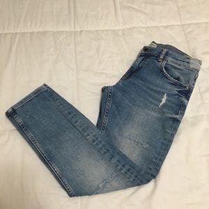 DONATING Tomorrow Zara Cropped Skinny Jeans